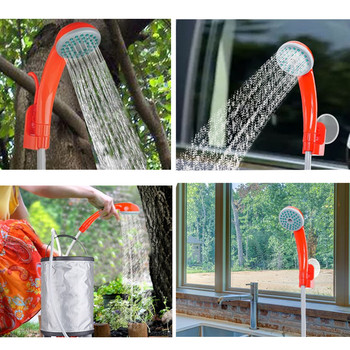 Portable Car Washer Camping Shower High Pressure Washing Machine Car Shower Washer Electric Water Pump Outdoor Travel Set