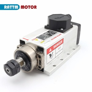 Image 2 - RU ship Square 2.2kw Air cooled spindle motor ER20 runout off 0.01mm,220V,4 Ceramic bearing for CNC Router Engraving milling