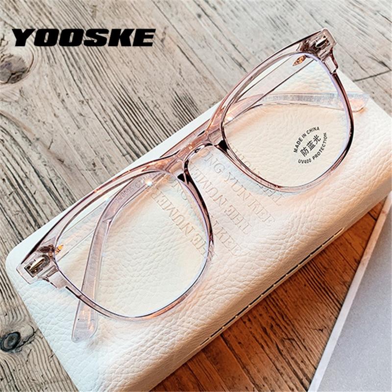 YOOSKE Computer Anti Blue-ray Glasses Blue Film Eyeglasses TR90 Optical Spectacles Gaming Eyewear