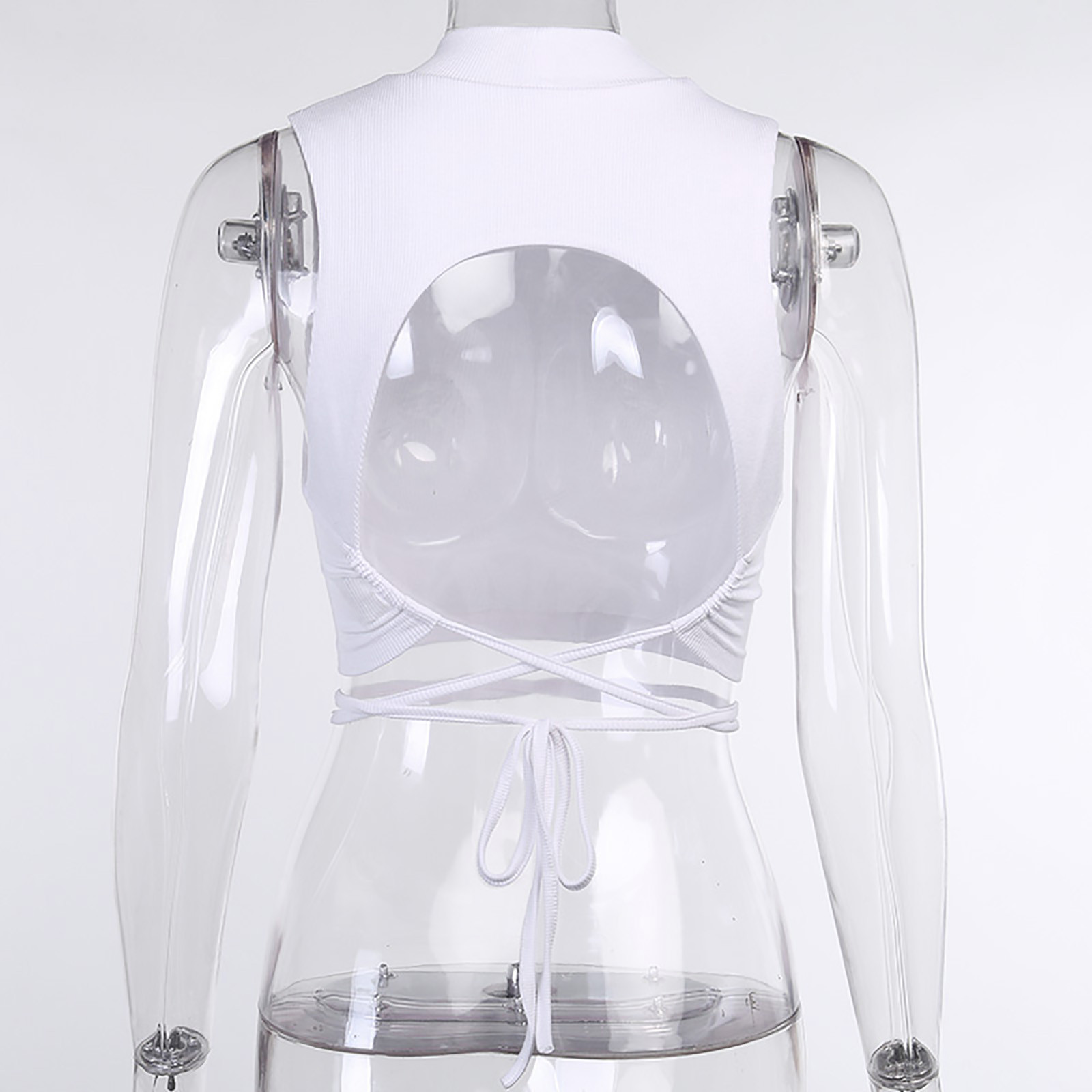 4# Women's Tops Sleeveless Sexy Cool Single One Shoulder Tank Tops Vest Bare Midriff Sleeveless T shirt Summer Beach Crop Top