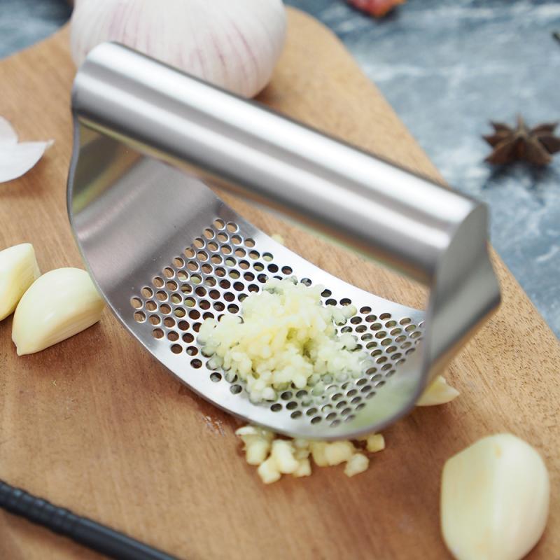 Пресс для чеснока, бытовой ручной пресс для чеснока, кухонный пресс с коробкой, пресс, ручной инструмент для имбиря и чеснока, легкое управле...