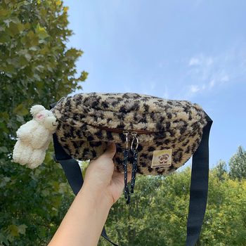 Chest Leopard Furry Bolsos Para Mujer Bags For Women 2020 Torebki Damskie New Autumn And Winter Fashion Zipper Purse