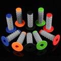 1 пара  3D Двухцветная силиконовая Нескользящая рукоятка для мотоцикла  Модифицированная ручка  универсальный клей 22 мм 7/8