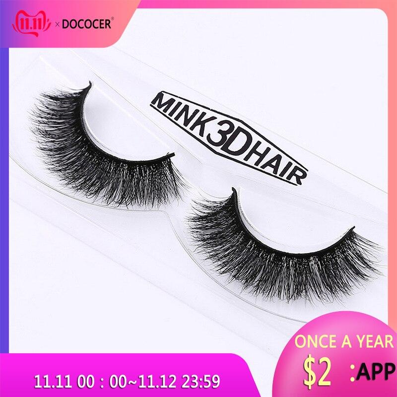 New band DOCOCER Mink Lashes 3D Mink False Eyelashes Long Lasting Lashes Natural & Lightweight Mink Eyelashes 1 pair Packaging-in False Eyelashes from Beauty & Health