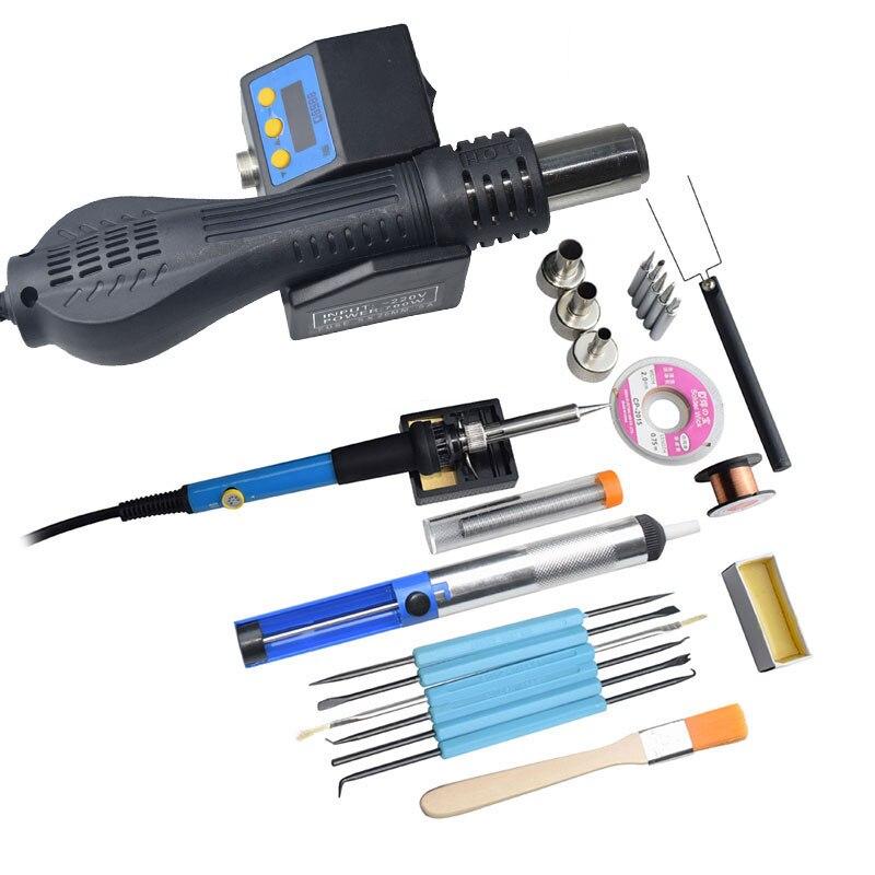 Portable BGA SMD Rework Solder Station DIY Hot Air Blower Heat Gun Eruntop 8858 8858D