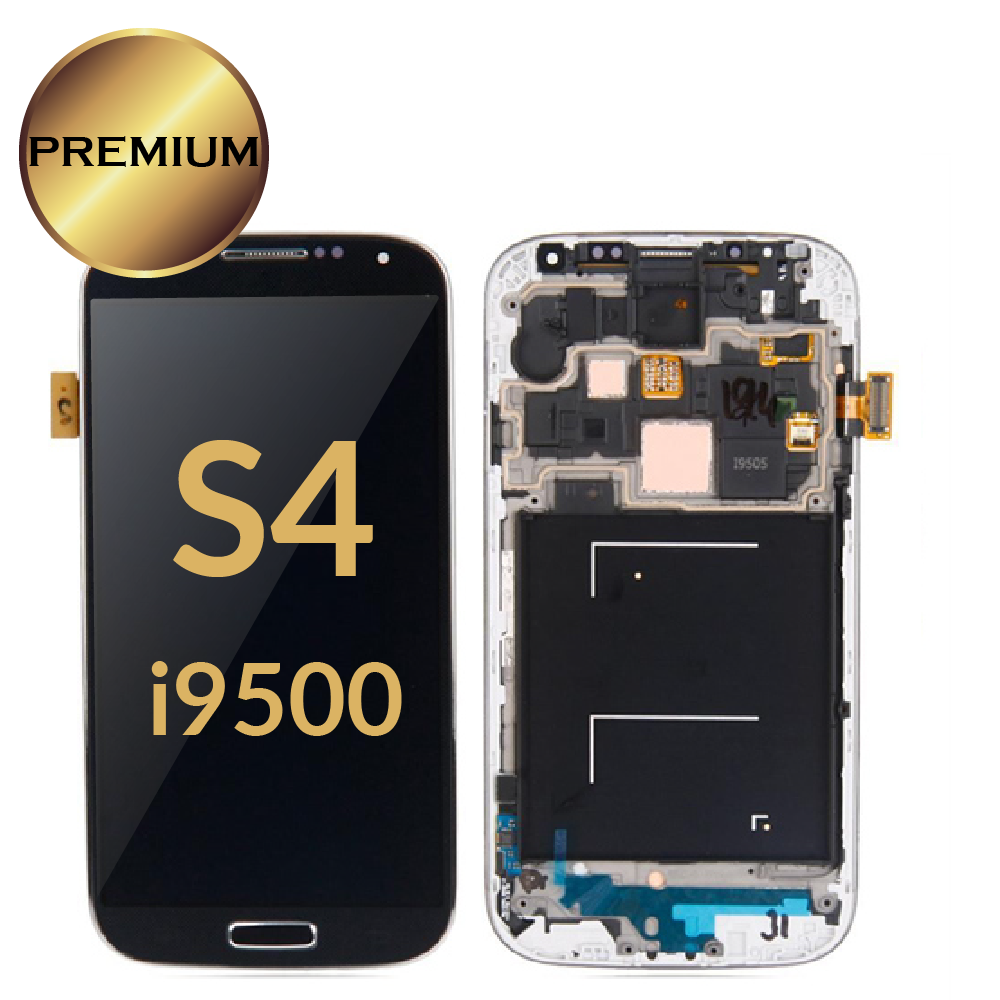 الأصلي Amoled لسامسونج S4 شاشة الكريستال السائل I9500 I9505 I9506 I337 LCD شاشة اللمس شاشة كاملة مع إطار حالة جيدة