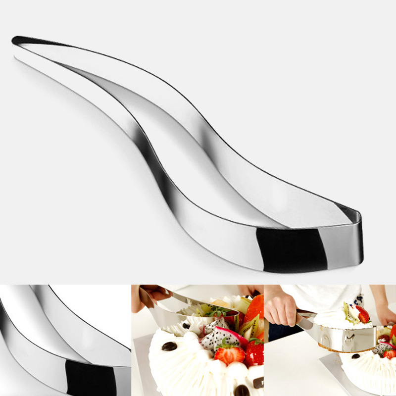 1 PC <font><b>Stainless</b></font> <font><b>Steel</b></font> Cake Slicer <font><b>Cheese</b></font> Confectionery Cutter Chocolate Fondant Biscuit Knife Pie Pancake Divider Cake <font><b>Mold</b></font> Tools image