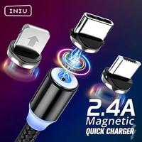Cavo magnetico INIU 2m tipo C Micro USB cavo di ricarica rapida caricabatterie magnetico per telefono cellulare per iPhone 12 11 X XR Huawei Xiaomi Samsung