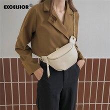 Эксельсиор 2020 Новая поясную сумку женщины талия кожа PU Ашион бум сумка телефон грудь пакеты для женщин bolso mujer свободного