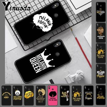 2bunz Melanin Poppin Aba TPU Soft Silicone Black Phone Case for redmi note8 pro note7 note5 note6pro 7 7A 5 5A 8 S2 Coque Shell image