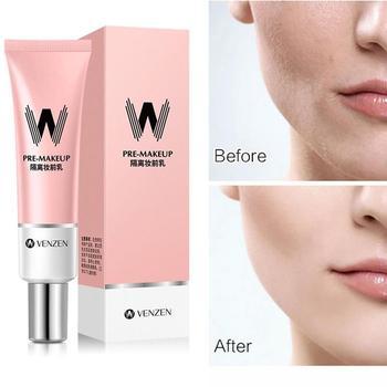 30ml VENZEN W Primer Make Up Shrink Pore Primer Base Smooth Face Brighten Makeup Skin Invisible Pores Concealer Korea 1