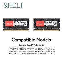 Shgi 2x8gb 1866 1867 mhz PC3-14900 ram de memória, para apple imac 5k 2015 late 17.1