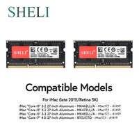 SHELI 2x8 GB 1866 1867 MHz PC3-14900 Speicher RAM für Spät 2015 APPLE iMac 5K 17,1