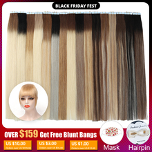 MRSHAIR Balayage Ombre קלטת שיער טבעי הרחבות דו צדדי דבק שיער ללא רמי 14 18 20 אינץ 20 יחידות\סט