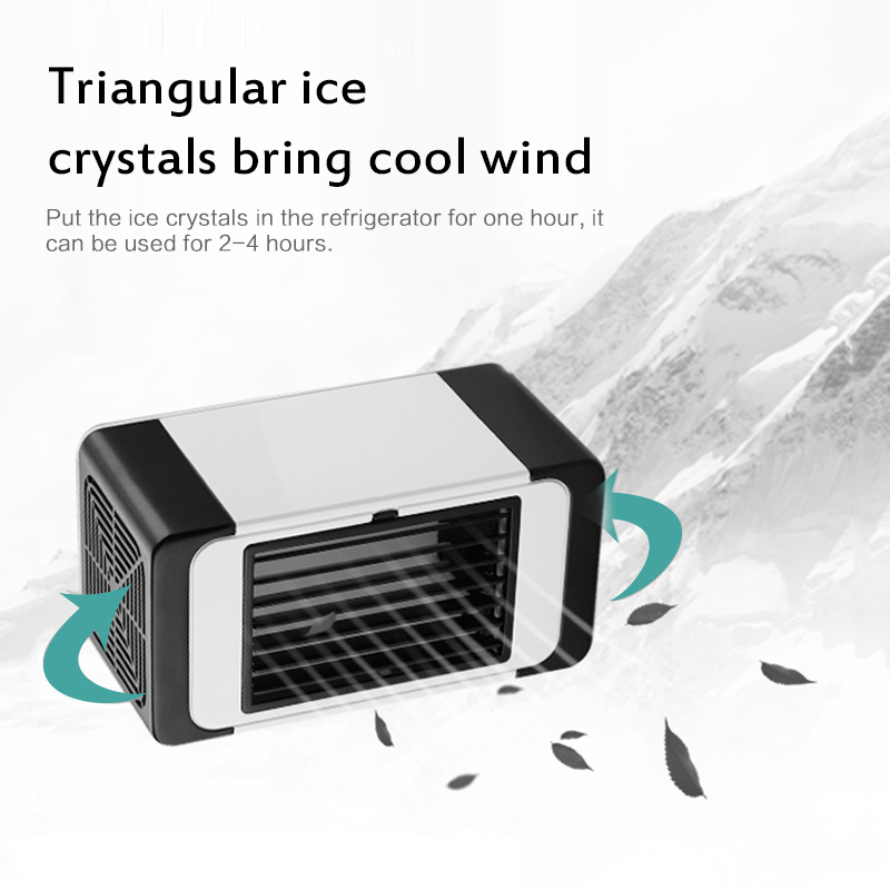 Portable USB Mini Air Conditioner Fan Evaporative Water Cooler Cooling Fan Car Truck Home Air Cooler For Home Office
