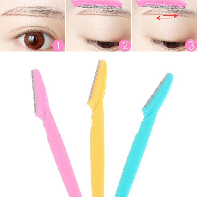 36 Pcs Facial Eyebrow Trimmer Hair Remover Set Eye Brow Shaver Mini Blade Eye Brow Epilator Shaper Eyebrow Scissors Brow Trimmer 3