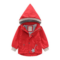 Children Baby Boy Girl With Removable Hats Kids Toddler Long Coat Autumn Winter Clothes Hooded Mantle Windbreaker Jacket Manteau