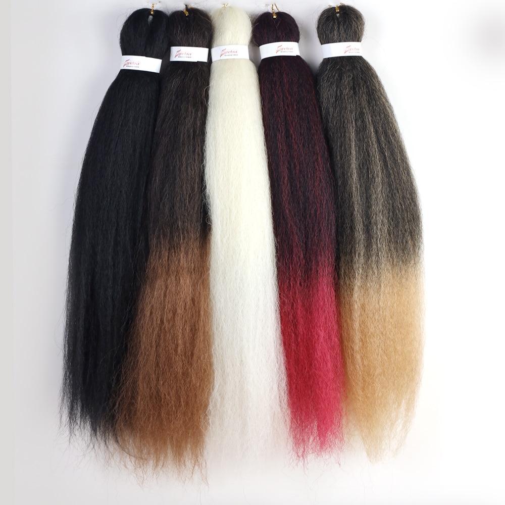 YunRong EZ Soft Yaki Hair For Women Pre Stretched Ez Braiding Hair 36inches Synthetic Fiber Crochet Hair