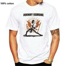 Johnny ramone amarelo hey ho deixa ir amarelo gráfico camiseta homem médio