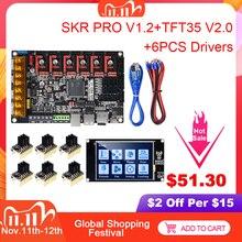 BIGTREETECH SKR PRO V1.2 لوحة تحكم 32Bit + TMC2209 TMC2208 TMC2130 + TFT35 V2.0 أجزاء طابعة ثلاثية الأبعاد VS SKR V1.3 MINI E3 MKS GEN L