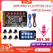 BIGTREETECH SKR PRO V1.2 Ban Kiểm Soát 32Bit + TMC2209 TMC2208 TMC2130 + TFT35 V2.0 3D Máy In Phần VS SKR V1.3 MINI E3 MKS GEN L