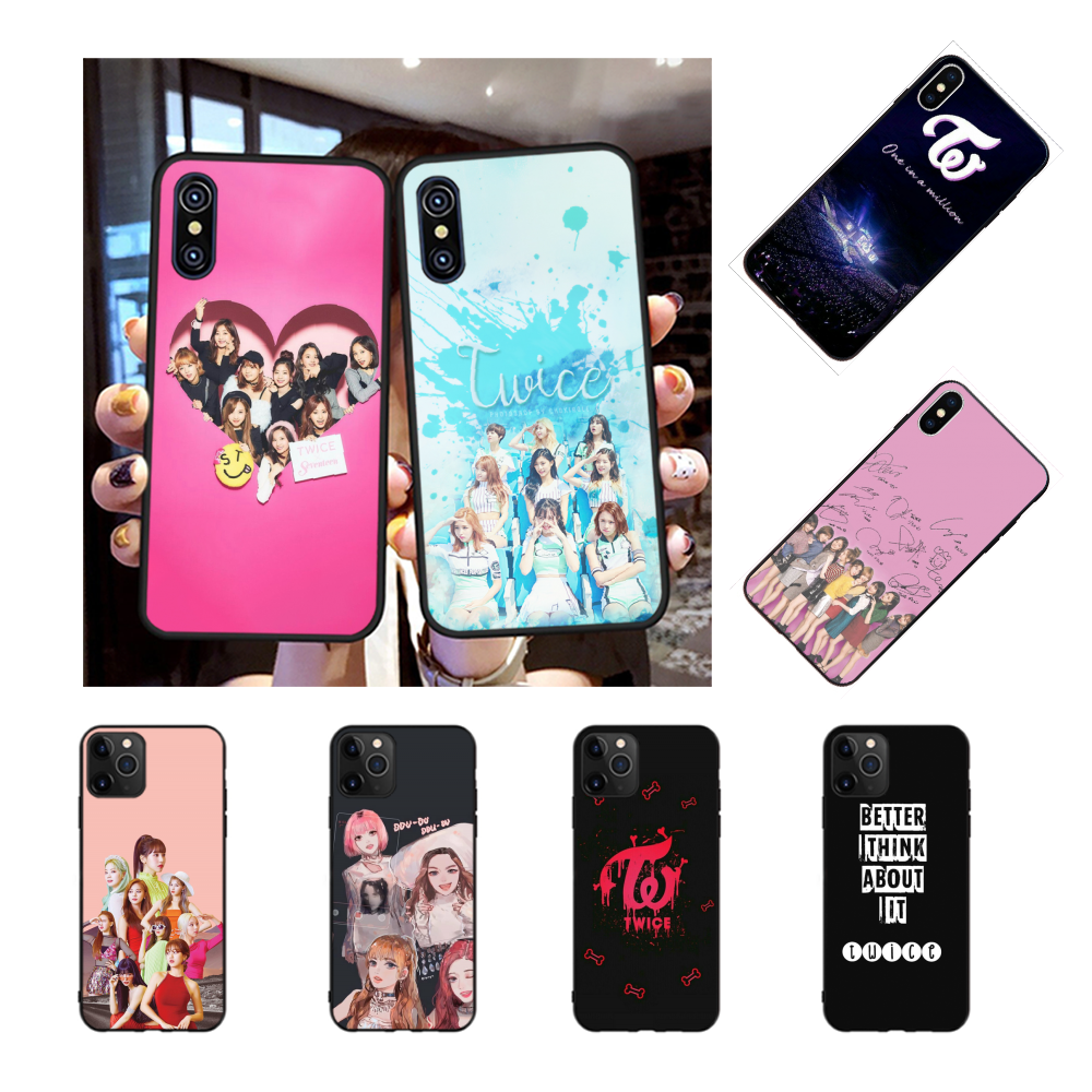 NBDRUICAI Twice Mina Momo Kpop Luxury Unique Design Phone Cover for iPhone 11 pro XS MAX 8 7 6 6S Plus X 5S SE XR case