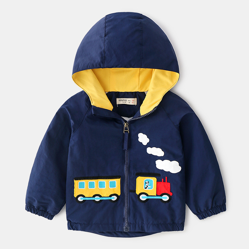 Cartoon Car Hoodie Jacket for Boy 2019 Autumn Jacket Boys Kids Outerwear Windbreaker Coats Fashion Baby Children Clothing in Jackets Coats from Mother Kids