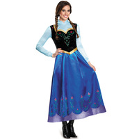 Large Size Europe And America Women's Halloween Clothing Sexy Snow Anna Princess Dress Game Uniform Character Play