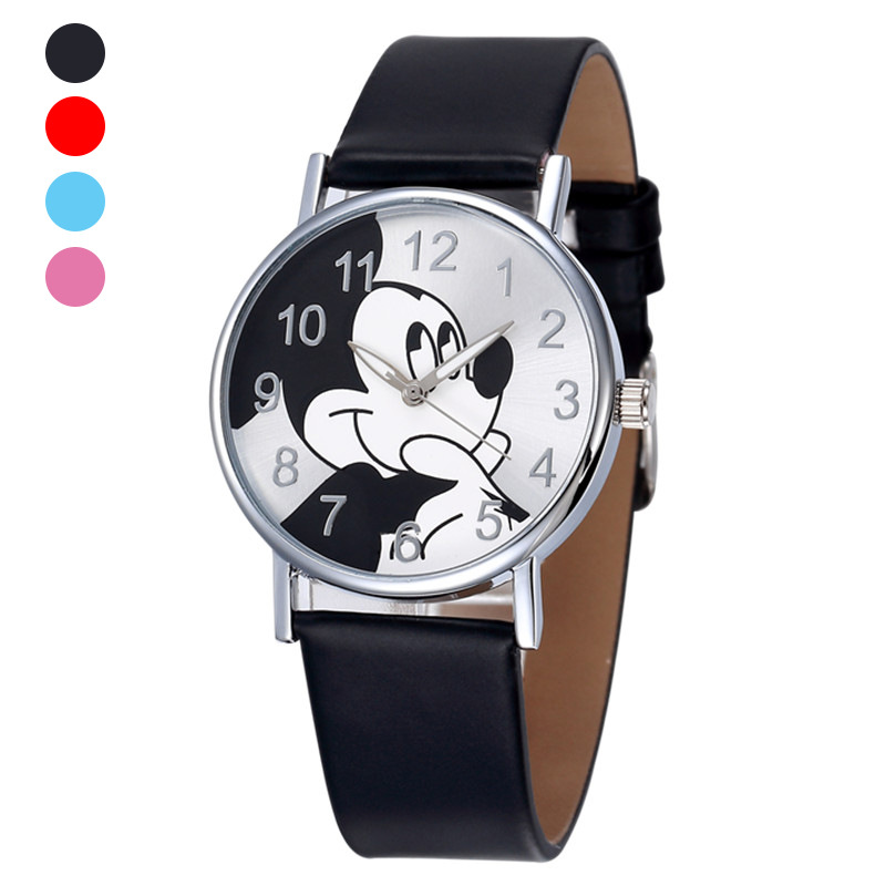 Kids Watch Cartoon Mickey Children's Watches Girls Boys Gift Fashion Leather Dress Children Quartz Wristwatches Clock