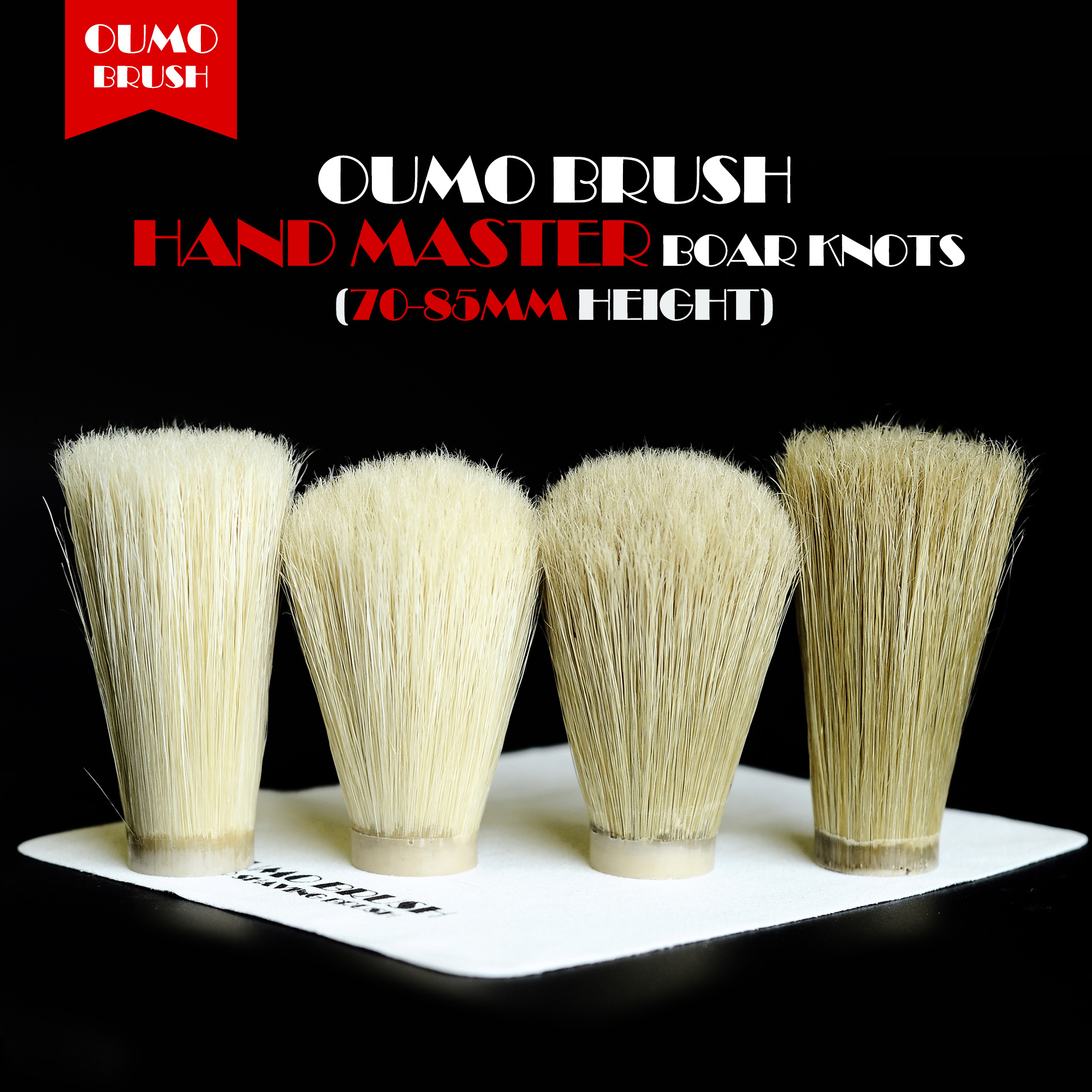 OUMO BRUSH- Boar Bristle Hair Knot Boar Shaving Brush Knot