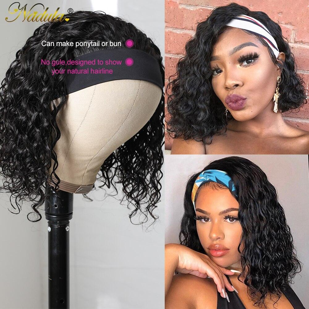 Nadula Water Wave BOB Wig Short Headband Wig  Easy Install Short Bob Water Wave Headband Wig for American Women 5