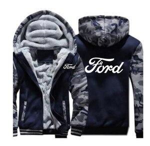 Image 1 - แฟชั่นฤดูหนาวชายเสื้อผ้าซิปFORD Sweatshirt Hoodies Coat 5 สีชายเสื้อแจ็คเก็ต