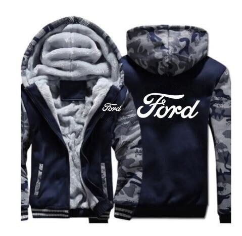 แฟชั่นฤดูหนาวชายเสื้อผ้าซิปFORD Sweatshirt Hoodies Coat 5 สีชายเสื้อแจ็คเก็ต