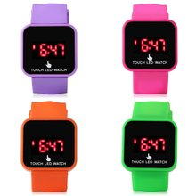 Children'S Watch Square Led Touch Screen Luminou Table Trend Men And Women Fashion Personality Student Electronic In Stock