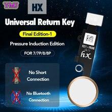 Neue JC YF Universal home taste Für iphone 7/7 plus/8/8 plus rückkehr taste schlüssel nur zurück funktion und screen shot keine touch ID