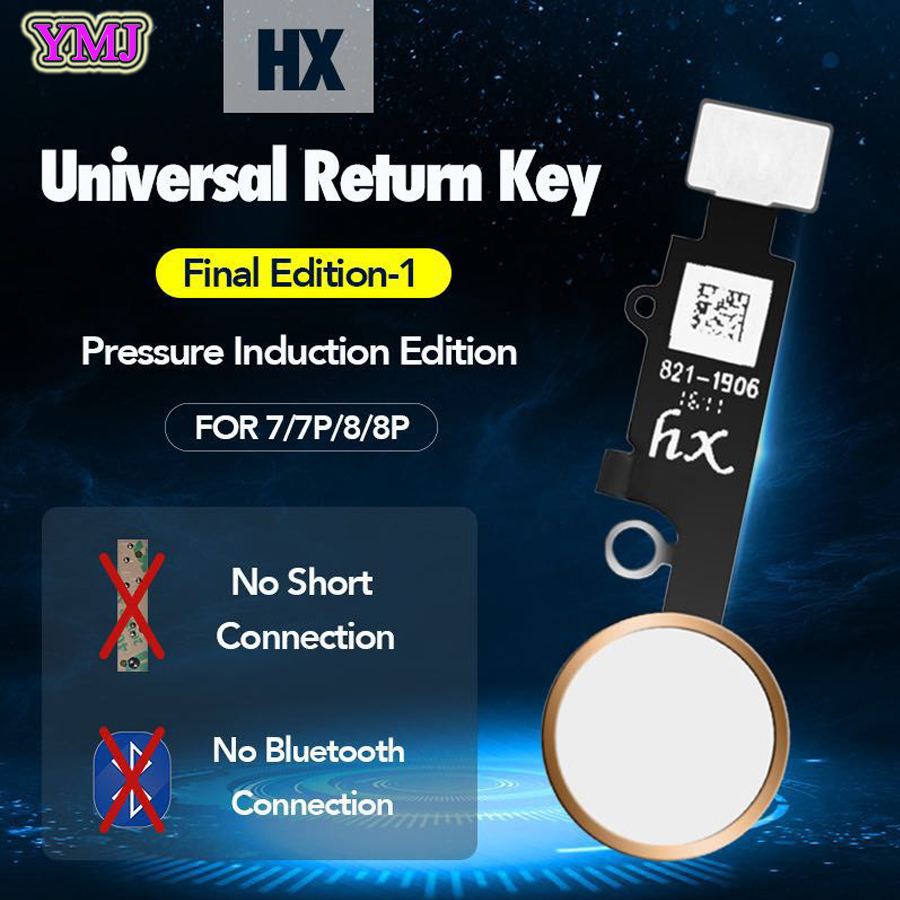 New JC YF Universal Home Button For Iphone 7/7plus /8/8 Plus Return Button Key Only Back Function And Screen Shot No Touch ID