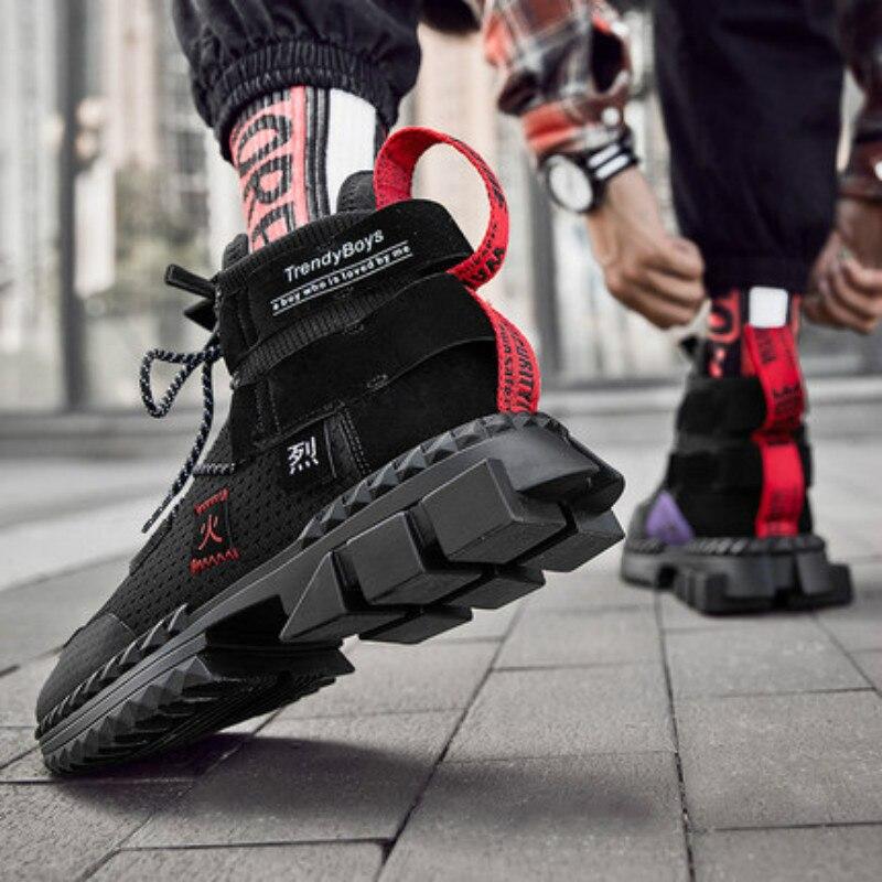 INS baskets Chunky hommes printemps été chaussures à fond épais respirant baskets Hip Hop Tenis Masculino Adulto Zapatos De Hombre