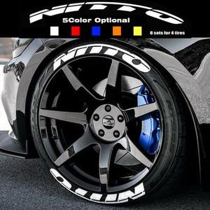 Автомобильная наклейка s 3D, 1 дюйм, поливинилхлоридная наклейка на колеса для мотоцикла, универсальная Тюнинг автомобиля, логотип