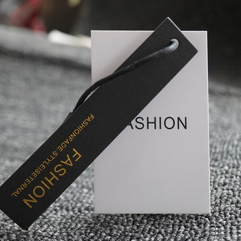 Wholesale cheap color printed custom garment hang tags for clothing
