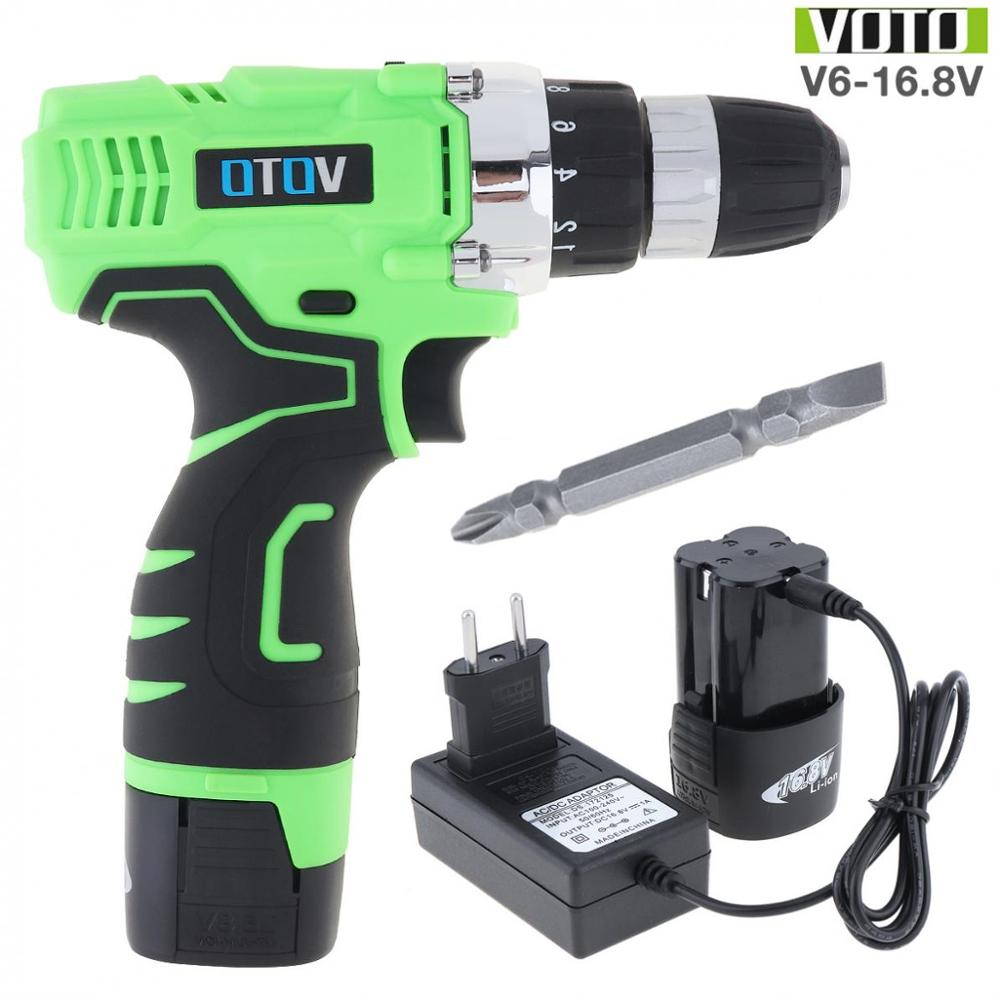 VOTO Electric Screwdriver Rechargeable 100-240V Cordless Max 16.8V Electric Screwdriver With Li-ion Battery For Handling Screws