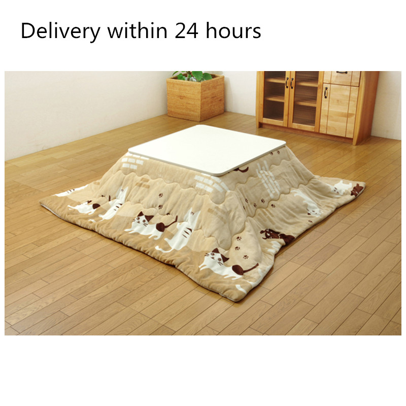 2pcs/set Washable Kotatsu Futon&Mattress 190x190cm Patchwork Cotton Soft Friendly Quilt Japanese Kotatsu Table Cover|kotatsu futon|japanese kotatsu|kotatsu cover - title=