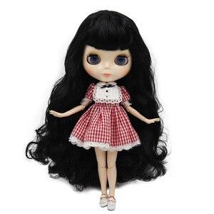 Image 3 - Muñeca Blyth de fábrica, cuerpo articulado con cara brillante y piel blanca, A & B 1/6 conjunto de mano, muñeca de moda, maquillaje diy, precio especial
