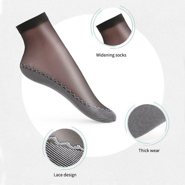Набор хлопковых мягких модных ультратонких дышащих прозрачных женских носков 4