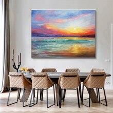 Ручной работы Марина С восходом солнца картина маслом холста