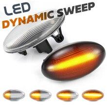 2 шсветодиодный Светодиодные поворотники для Peugeot 107 206 207 307 407