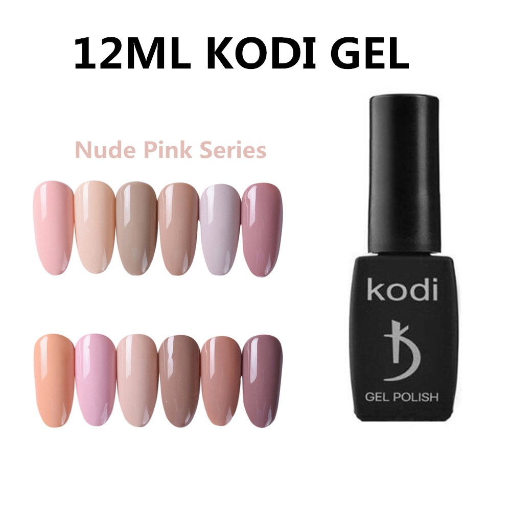 Kodi Salon Nude Color Led Nail Gel Polish 12ml Professional Long Lasting UV Gel Nail Varnish Dry With Led Lamp