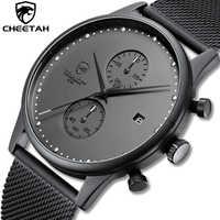 Nuevo reloj CHEETAH marca hombre reloj cronógrafo de cuarzo hombre Acero inoxidable resistente al agua reloj deportivo relojes de negocios reloj hombre