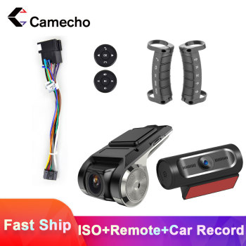 Camecho 2 Din Car Radio Accessior Android Car Multimedia Player Connector Plug Cable Steering Wheel Control For VW Toyota Nissan image