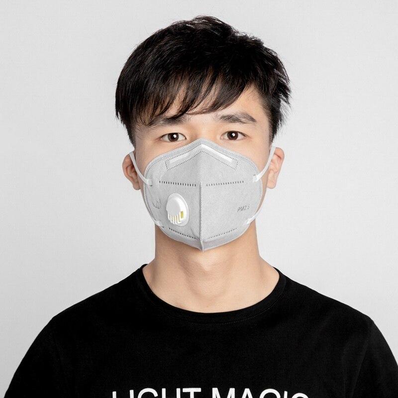 KN95 Face Mask Valve PM 2.5 Dustproof Windproof Respirator Anti-Fog New Coronavirus 19 Dust-proof Yellow Sand Outdoor Mask