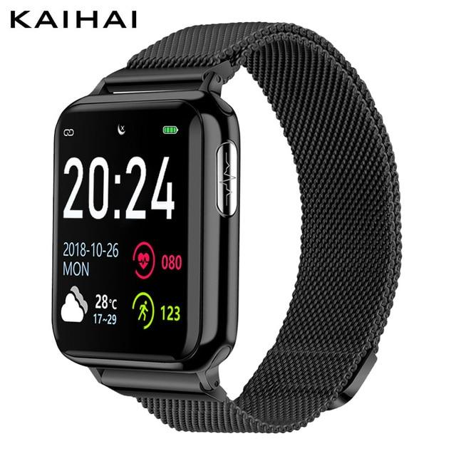 "KAIHAI H69 אק""ג PPG SpO2 HRV כושר בריאות חכם שעון גברים אלקטרוני לחץ דם מדידת קצב לב צג smartwatch"